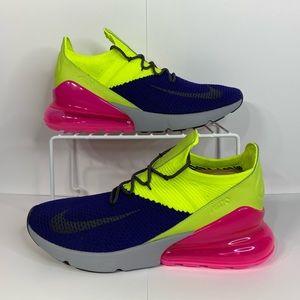 NEW Nike air max 270 flyknit regency purple volt